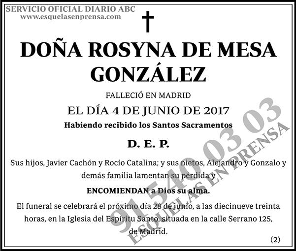 Rosyna de Mesa González